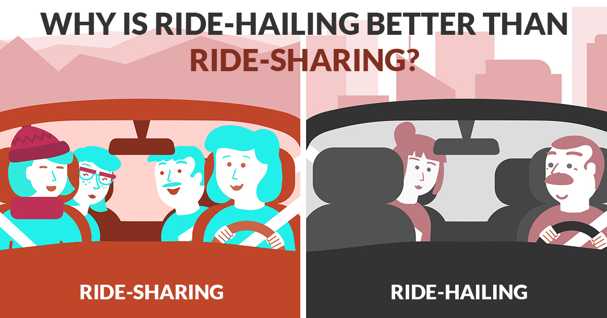 Why is Ride-hailing Better than Ride-sharing?