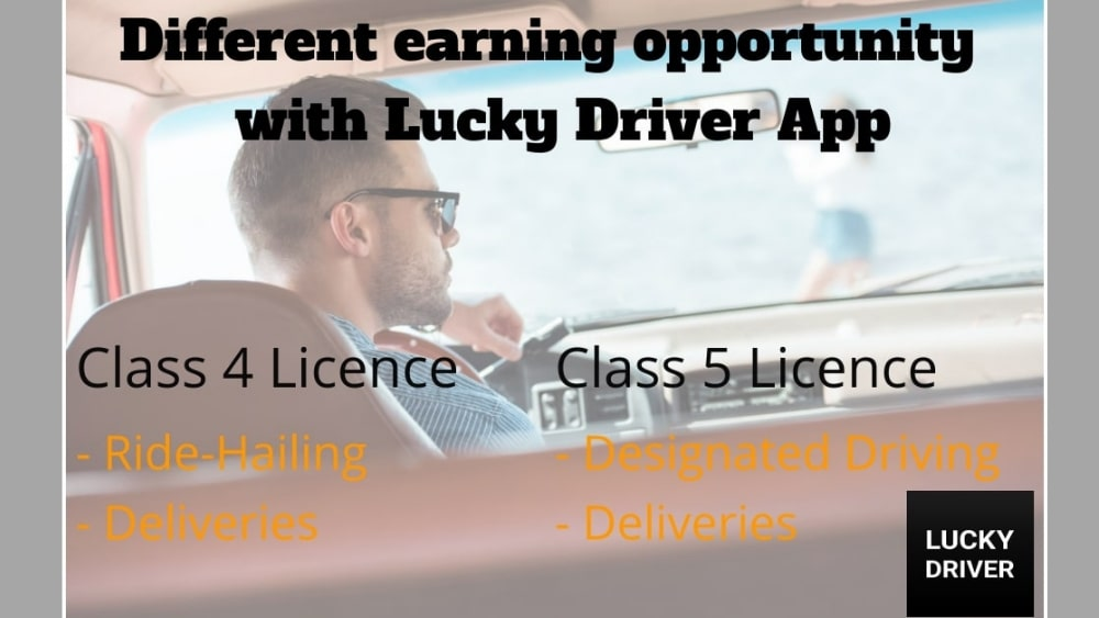 Unique opportunity: Different Earning Modes with Lucky Driver App
